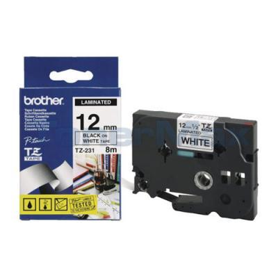 BROTHER P-TOUCH TAPE BLACK/WHITE (1/2 X 26)